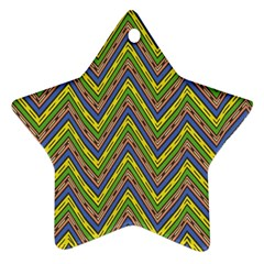 Zig Zag Pattern Star Ornament (two Sides)