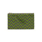 Zig zag pattern Cosmetic Bag (Small) Front
