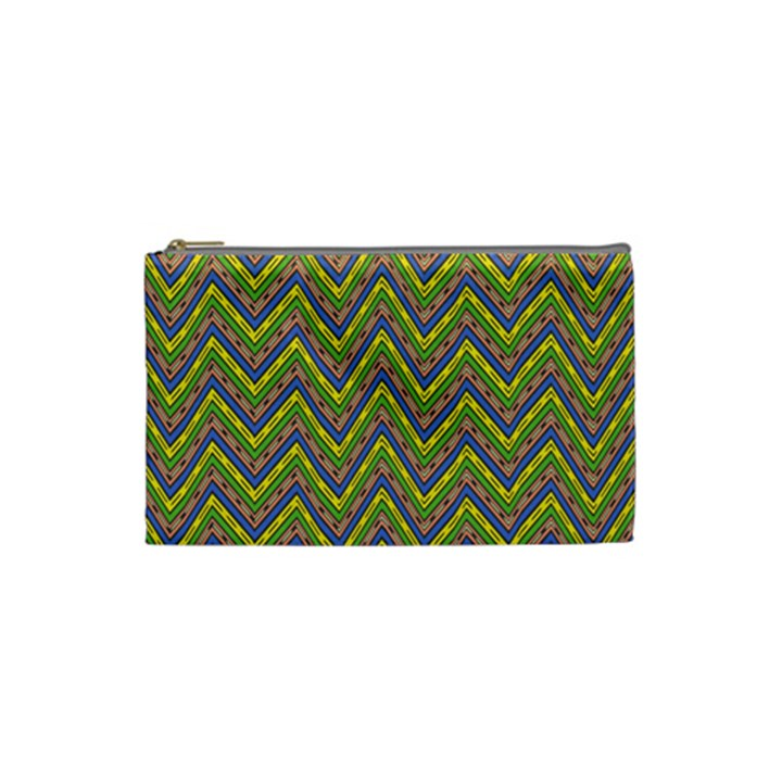 Zig zag pattern Cosmetic Bag (Small)