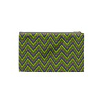 Zig zag pattern Cosmetic Bag (Small) Back