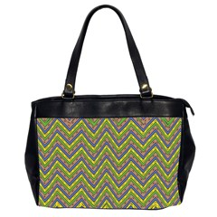 Zig Zag Pattern Oversize Office Handbag (two Sides)
