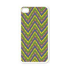 Zig Zag Pattern Apple Iphone 4 Case (white)