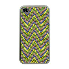 Zig Zag Pattern Apple Iphone 4 Case (clear) by LalyLauraFLM