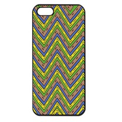 Zig Zag Pattern Apple Iphone 5 Seamless Case (black)