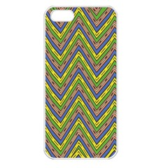 Zig Zag Pattern Apple Iphone 5 Seamless Case (white) by LalyLauraFLM