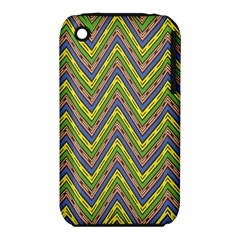 Zig Zag Pattern Apple Iphone 3g/3gs Hardshell Case (pc+silicone)