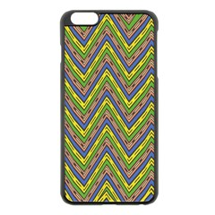Zig Zag Pattern Apple Iphone 6 Plus Black Enamel Case by LalyLauraFLM