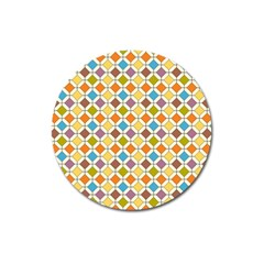 Colorful Rhombus Pattern Magnet 3  (round)