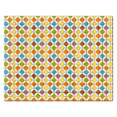 Colorful Rhombus Pattern Jigsaw Puzzle (rectangular)