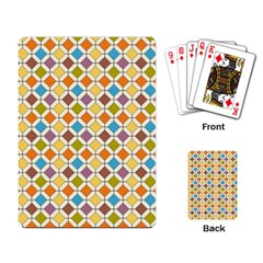 Colorful Rhombus Pattern Playing Cards Single Design by LalyLauraFLM