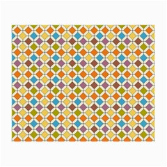 Colorful Rhombus Pattern Glasses Cloth (small, Two Sides) by LalyLauraFLM