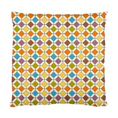 Colorful Rhombus Pattern Cushion Case (two Sides) by LalyLauraFLM