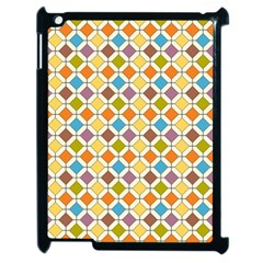 Colorful Rhombus Pattern Apple Ipad 2 Case (black) by LalyLauraFLM