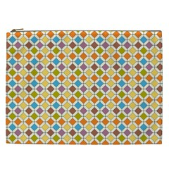 Colorful Rhombus Pattern Cosmetic Bag (xxl) by LalyLauraFLM
