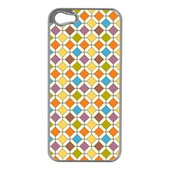 Colorful Rhombus Pattern Apple Iphone 5 Case (silver)