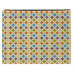 Colorful Rhombus Pattern Cosmetic Bag (xxxl)