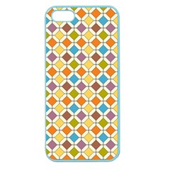 Colorful Rhombus Pattern Apple Seamless Iphone 5 Case (color) by LalyLauraFLM
