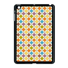 Colorful Rhombus Pattern Apple Ipad Mini Case (black) by LalyLauraFLM