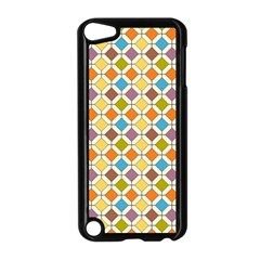 Colorful Rhombus Pattern Apple Ipod Touch 5 Case (black) by LalyLauraFLM