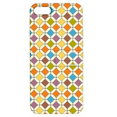 Colorful Rhombus Pattern Apple Iphone 5 Hardshell Case With Stand
