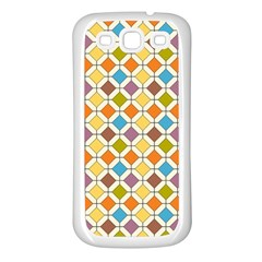 Colorful Rhombus Pattern Samsung Galaxy S3 Back Case (white)