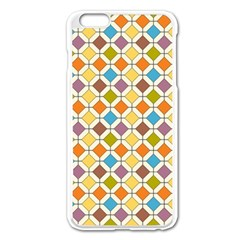 Colorful Rhombus Pattern Apple Iphone 6 Plus Enamel White Case by LalyLauraFLM