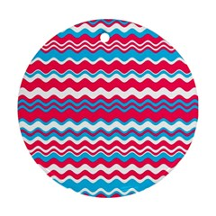 Waves Pattern Ornament (round) by LalyLauraFLM