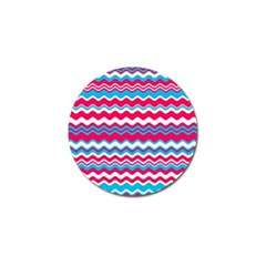 Waves Pattern Golf Ball Marker (10 Pack) by LalyLauraFLM
