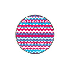 Waves Pattern Hat Clip Ball Marker (4 Pack) by LalyLauraFLM