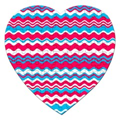Waves Pattern Jigsaw Puzzle (heart) by LalyLauraFLM