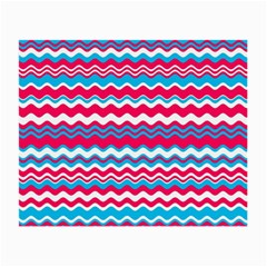 Waves Pattern Glasses Cloth (small, Two Sides) by LalyLauraFLM
