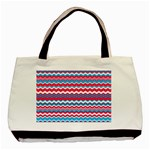 Waves pattern Classic Tote Bag (Two Sides) Back