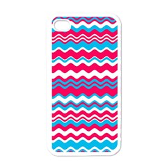 Waves Pattern Apple Iphone 4 Case (white) by LalyLauraFLM