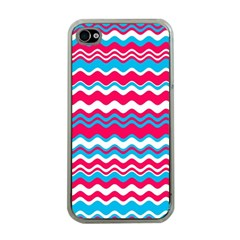 Waves Pattern Apple Iphone 4 Case (clear) by LalyLauraFLM