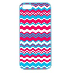 Waves Pattern Apple Seamless Iphone 5 Case (color) by LalyLauraFLM