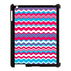Waves Pattern Apple Ipad 3/4 Case (black) by LalyLauraFLM