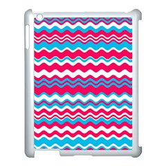 Waves Pattern Apple Ipad 3/4 Case (white) by LalyLauraFLM