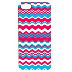 Waves Pattern Apple Iphone 5 Hardshell Case With Stand by LalyLauraFLM