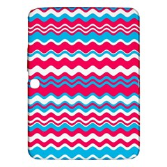 Waves Pattern Samsung Galaxy Tab 3 (10 1 ) P5200 Hardshell Case  by LalyLauraFLM