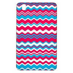 Waves Pattern Samsung Galaxy Tab Pro 8 4 Hardshell Case by LalyLauraFLM
