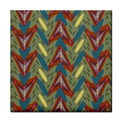 Shapes Pattern Tile Coaster by LalyLauraFLM