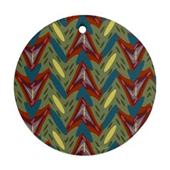 Shapes Pattern Ornament (round) by LalyLauraFLM
