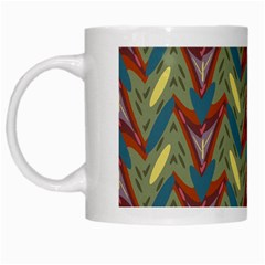 Shapes Pattern White Mug