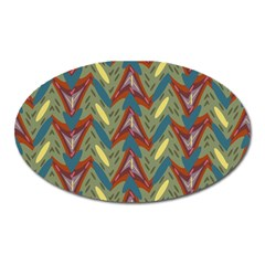 Shapes Pattern Magnet (oval) by LalyLauraFLM