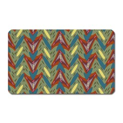 Shapes Pattern Magnet (rectangular) by LalyLauraFLM