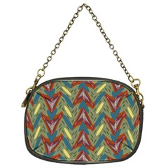 Shapes Pattern Chain Purse (two Sides) by LalyLauraFLM