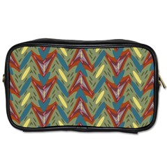 Shapes Pattern Toiletries Bag (two Sides) by LalyLauraFLM
