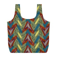 Shapes Pattern Full Print Recycle Bag (l) by LalyLauraFLM