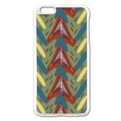 Shapes Pattern Apple Iphone 6 Plus Enamel White Case by LalyLauraFLM