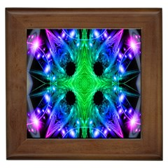 Alien Snowflake Framed Ceramic Tile by icarusismartdesigns